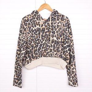 BP Leopard Animal Print Soft Fleece Lined Sweater